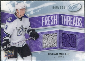 2008/09 Upper Deck Ice Fresh Threads Parallel #FTOM Oscar Moller /100