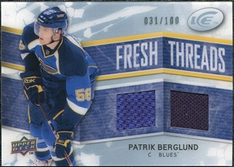 2008/09 Upper Deck Ice Fresh Threads Parallel #FTPB Patrik Berglund /100