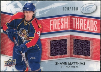 2008/09 Upper Deck Ice Fresh Threads Parallel #FTSM Shawn Matthias /100