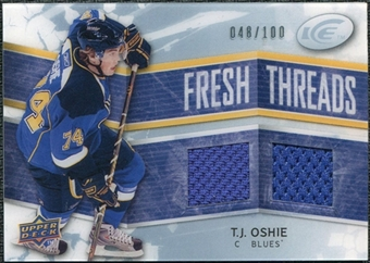 2008/09 Upper Deck Ice Fresh Threads Parallel #FTTO T.J. Oshie /100