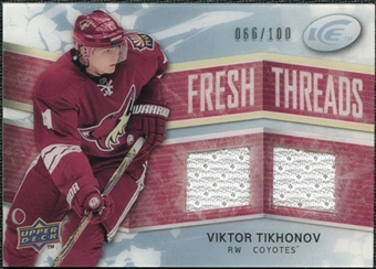 2008/09 Upper Deck Ice Fresh Threads Parallel #FTVT Viktor Tikhonov /100