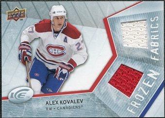 2008/09 Upper Deck Ice Frozen Fabrics #FFAK Alex Kovalev