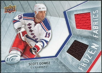 2008/09 Upper Deck Ice Frozen Fabrics #FFGZ Scott Gomez