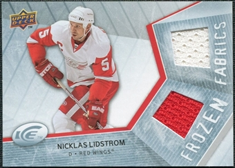 2008/09 Upper Deck Ice Frozen Fabrics #FFNL Nicklas Lidstrom