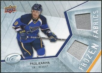 2008/09 Upper Deck Ice Frozen Fabrics #FFPK Paul Kariya