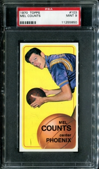 1970/71 Topps Basketball #103 Mel Counts PSA 9 (MINT) *5850