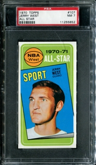 1970/71 Topps Basketball #107 Jerry West All Star PSA 7 (NM) *5852