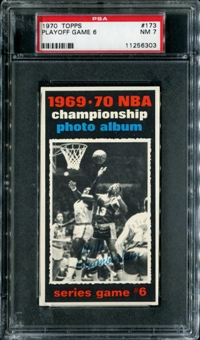 1970/71 Topps Basketball #173 Playoff Game 6 - Wilt Chamberlain PSA 7 (NM) *6303