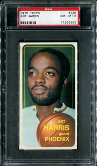 1970/71 Topps Basketball #149 Art Harris PSA 8 (NM-MT) *6353