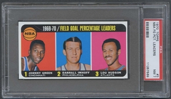 1970/71 Topps Basketball #3 NBA FG PCT Leaders PSA 7 (NM) *7569