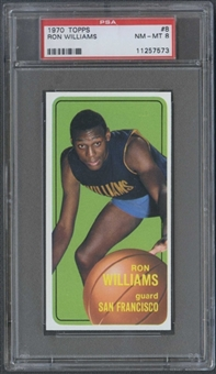 1970/71 Topps Basketball #8 Ron Williams PSA 8 (NM-MT) *7573
