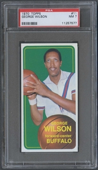 1970/71 Topps Basketball #11 George Wilson PSA 7 (NM) *7577