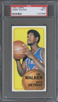 1970/71 Topps Basketball #25 Jimmy Walker PSA 7 (NM) *7588