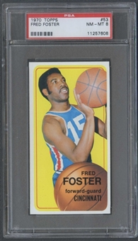 1970/71 Topps Basketball #53 Fred Foster PSA 8 (NM-MT) *7608