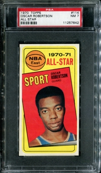 1970/71 Topps Basketball #114 Oscar Robertson All Star PSA 7 (NM) *7642