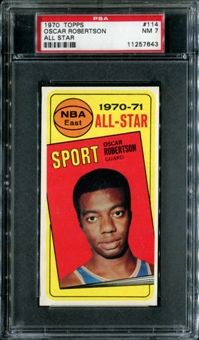 1970/71 Topps Basketball #114 Oscar Robertson All Star PSA 7 (NM) *7643