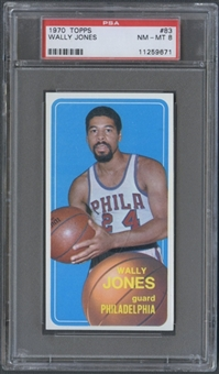 1970/71 Topps Basketball #83 Wally Jones PSA 8 (NM-MT) *9671