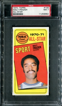 1970/71 Topps Basketball #106 Walt Frazier All Star PSA 7 (NM) *9682