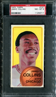 1970/71 Topps Basketball #157 Jimmy Collins PSA 8 (NM-MT) *9717