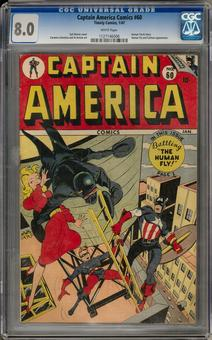 Captain America Comics #60 CGC 8.0 (W) *1127146006*