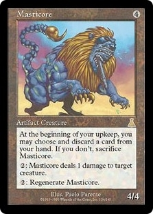 Magic the Gathering Urza's Destiny Single Masticore - SLIGHT PLAY (SP)