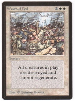 Magic the Gathering Beta Single Wrath of God - SLIGHT PLAY (SP)