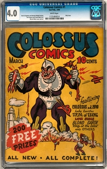 Colossus Comics #1 CGC 4.0 (W) *1131464014*