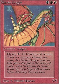 Magic the Gathering Beta Single Shivan Dragon - NEAR MINT (NM)