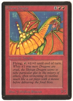 Magic the Gathering Beta Single Shivan Dragon - SLIGHT PLAY (SP)