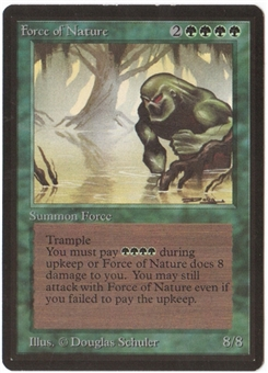 Magic the Gathering Beta Single Force of Nature - SLIGHT PLAY (SP)