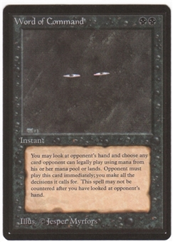 Magic the Gathering Beta Single Word of Command - NEAR MINT (NM)