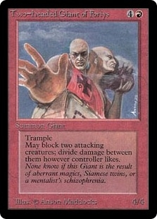 Magic the Gathering Beta Single Two-Headed Giant of Foriys - NEAR MINT (NM)