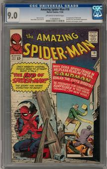 Amazing Spider-Man #18 CGC 9.0 (OW-W) *1138383014*