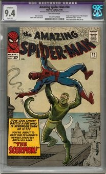 Amazing Spider-Man #20 CGC 9.4 Restored (OW) *1139102003*