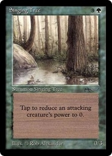 Magic the Gathering Arabian Nights Single Singing Tree - SLIGHT PLAY (SP)