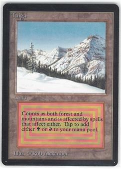 Magic the Gathering Beta Single Taiga - SLIGHT PLAY (SP)