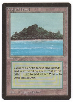 Magic the Gathering Beta Single Tropical Island - SLIGHT PLAY (SP)