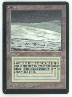 Magic the Gathering Beta Single Tundra - SLIGHT PLAY (SP)