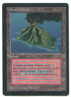Magic the Gathering Beta Single Volcanic Island - NEAR MINT (NM)