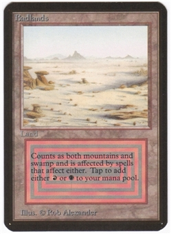 Magic the Gathering Alpha Single Badlands UNPLAYED (NM/MT)