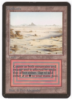 Magic the Gathering Alpha Single Badlands LIGHT PLAY (NM)