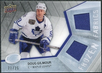 2008/09 Upper Deck Ice Frozen Fabrics Black Parallel #FFDG Doug Gilmour /25