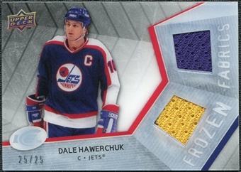 2008/09 Upper Deck Ice Frozen Fabrics Black Parallel #FFHW Dale Hawerchuk /25