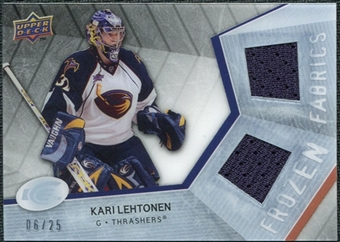 2008/09 Upper Deck Ice Frozen Fabrics Black Parallel #FFKL Kari Lehtonen /25