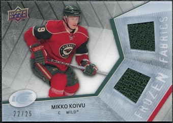 2008/09 Upper Deck Ice Frozen Fabrics Black Parallel #FFMK Mikko Koivu /25