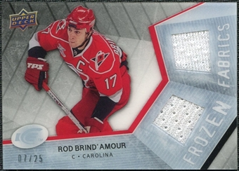 2008/09 Upper Deck Ice Frozen Fabrics Black Parallel #FFRD Rod Brind`Amour /25