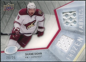 2008/09 Upper Deck Ice Frozen Fabrics Black Parallel #FFSD Shane Doan /25