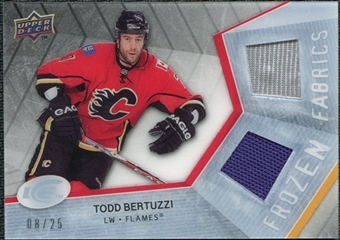 2008/09 Upper Deck Ice Frozen Fabrics Black Parallel #FFTB Todd Bertuzzi /25