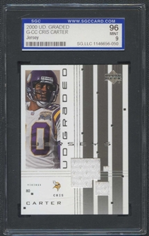 2000 Upper Deck Graded Football #G-CC Cris Carter SGC 96 (MINT 9) *6050