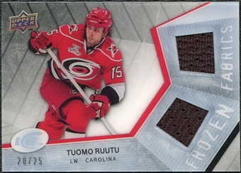 2008/09 Upper Deck Ice Frozen Fabrics Black Parallel #FFTR Tuomo Ruutu /25